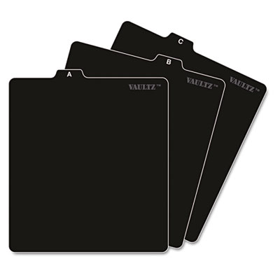 A-Z CD File Guides, 5 x 5 3/4, Black