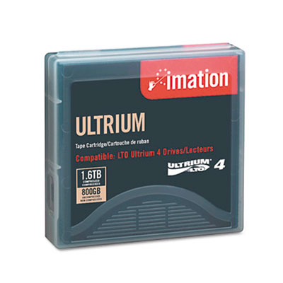 "1/2"" Ultrium LTO-4 Cartridge, 2600ft, 800GB Native/1.6TB Compres"