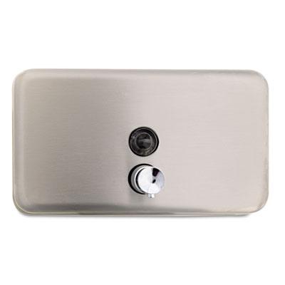 Horizontal Soap Dispenser, 40oz, Stainless Steel, 4 3/16 x 8 3/1