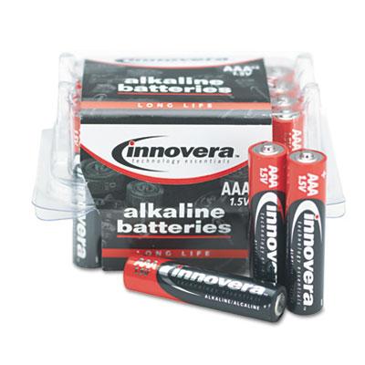 Alkaline Batteries, AAA, 24 Batteries/Pack