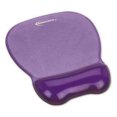 Gel Mouse Pad w/Wrist Rest, Nonskid Base, 8-1/4 x 9-5/8, Purple