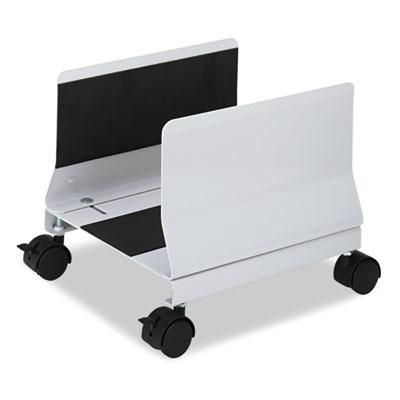 Metal Mobile CPU Stand, 10-1/4w x 10-5/8d x 9-3/4h, Light Gray