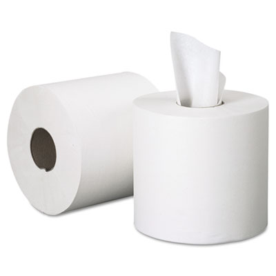 SCOTT Center-Pull Paper Roll Towels, 8 x 15, White, 500/Roll, 4