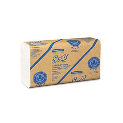 SCOTT SCOTTFOLD Towels, 9 2/5 x 12 2/5, White, 175 Towels/Pack,