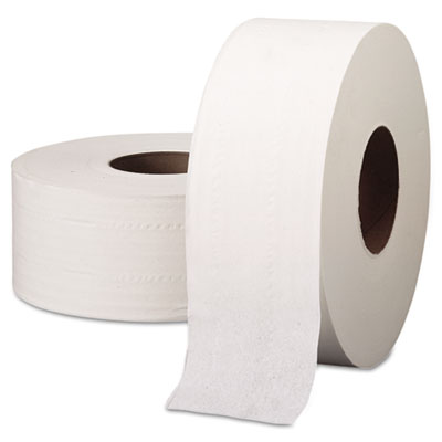 "SCOTT JRT Jumbo Roll Bathroom Tissue, 2-Ply, 9"" dia, 1000ft, 4/C"