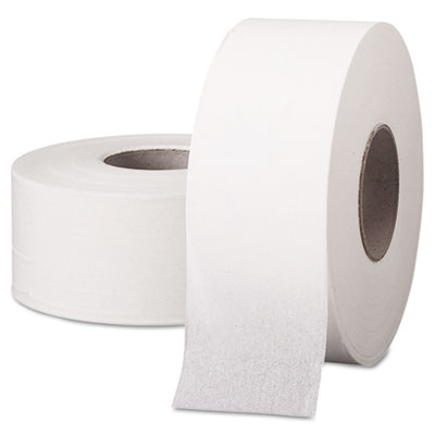 "SCOTT JRT Jumbo Roll Bathroom Tissue, 1-Ply, 9"" dia, 2000ft, 12/"