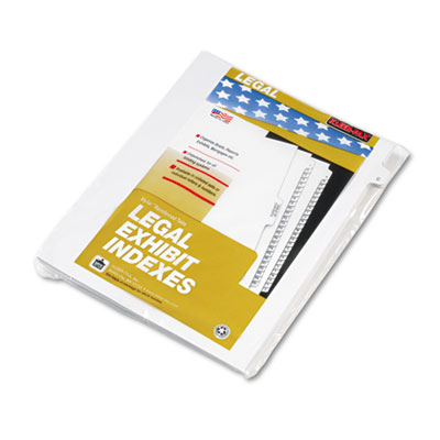 "80000 Series Legal Exhibit Index Dividers, 1/26 Cut Tab, ""C"", Wh"