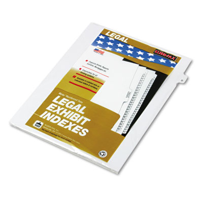 "80000 Series Legal Exhibit Index Dividers, Side Tab, ""D"", White,"
