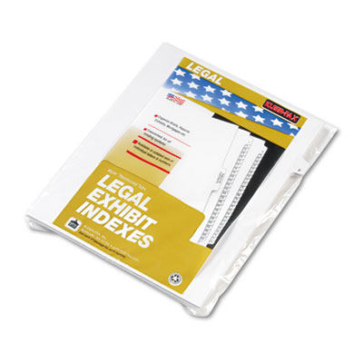 "80000 Series Legal Exhibit Index Dividers, Side Tab, ""F"", White,"