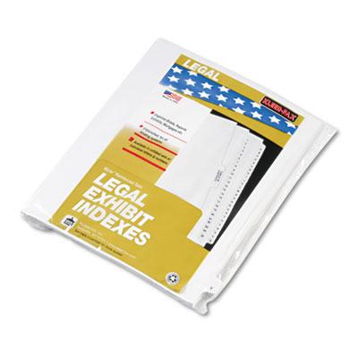 """80000 Series Legal Index Dividers, Side Tab, Printed """"Y"""", White,"""