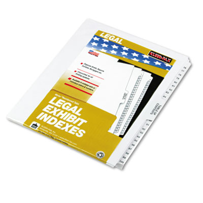 "80000 Series Legal Index Divider Set, Side Tabs, Printed ""76""-""1"