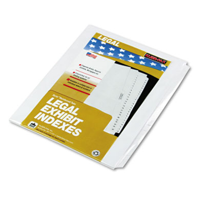 80000 Series Legal Exhibit Index Dividers, Blank Tabs, 25/Set