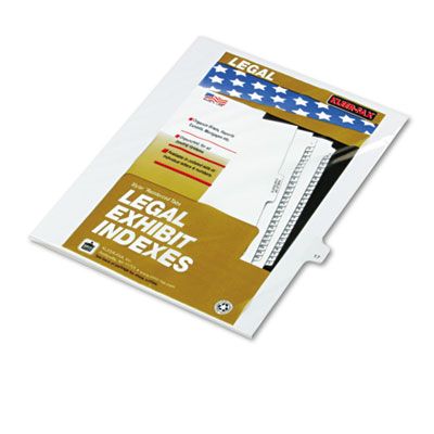 "80000 Series Legal Exhibit Index Dividers, Side Tab, Printed ""17"