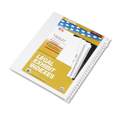 "80000 Series Legal Index Divider Set, Side Tabs, Printed ""101""-"""