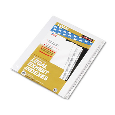 "80000 Series Legal Index Divider Set, Side Tabs, Printed ""126""-"""