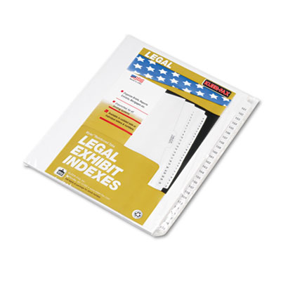 "80000 Series Legal Index Divider Set, Side Tabs, Printed ""151""-"""