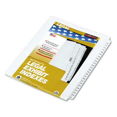 "80000 Series Legal Index Divider Set, Side Tabs, Printed ""176""-"""