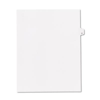 """90000 Series Legal Exhibit Index Dividers, Side Tab, Printed """"32"""