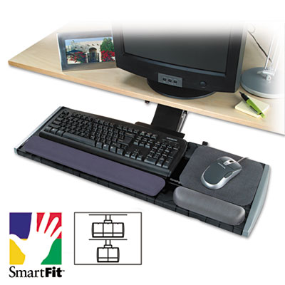 Adjustable Keyboard Platform with SmartFit System, 21-1/4w x 10d