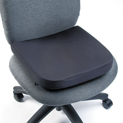 "Memory Foam Seat Rest, 13-1/2""w x 14 1/2""d x 2""h, Black"