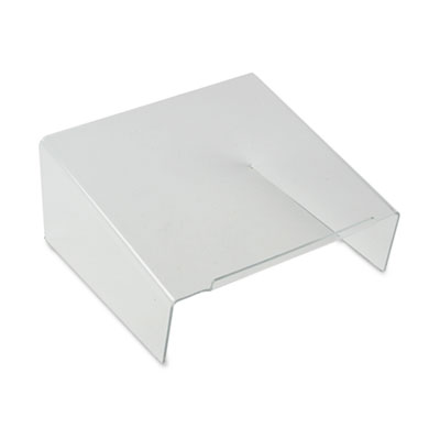 Clear Acrylic Angled Telephone Desk Stand, 10 x 9 1/2 x 4 1/2, C