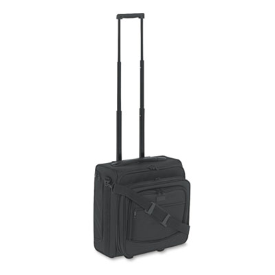Dual-Side Rolling Computer/Overnight Case, Nylon, 16 x 10 x 15,
