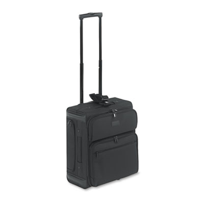 Rolling Dual-Side Laptop/Overnight Case, Nylon, 16 x 9 x 18, Bla