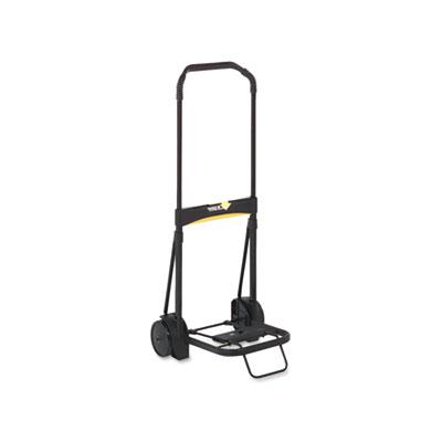 Kantek Inc. LGLC200 Ultra-Lite Folding Cart, 250lb Capacity, 11 x 13 1/4 Platform, Black