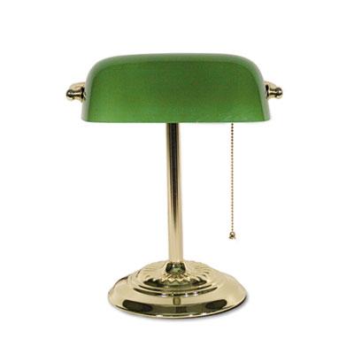 ledu traditional incandescent banker 39 s lamp green glass. Black Bedroom Furniture Sets. Home Design Ideas