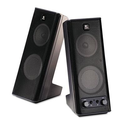 X-140 2.0 Speaker System, 4w x 5d x 9-1/2h