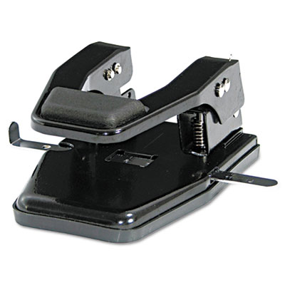 "40-Sheet Heavy-Duty Two-Hole Punch, 9/32"" Holes, Padded Handle,"