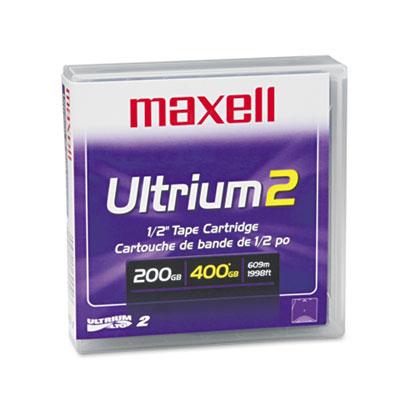 "1/2"" Ultrium LTO-2 Cartridge, 1998ft, 200GB Native/400GB Compres"