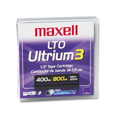 "1/2"" Ultrium LTO-3 Cartridge, 2200ft, 400GB Native/800GB Compres"