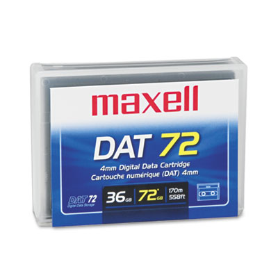 "1/8"" DAT 72 Cartridge, 170m, 36GB Native/72GB Compressed Capacit"
