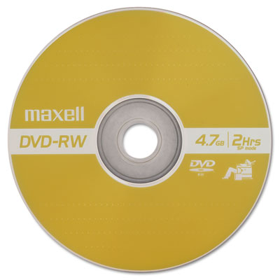 DVD-RW Discs, 4.7 GB, 2x, w/Jewel Cases, Gold, 3/Pack