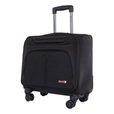 "Purpose Overnight Business Case On Spinner Wheels 9.5"" x 9.5"" x 17.5"" Black BZCW1003SMBK"