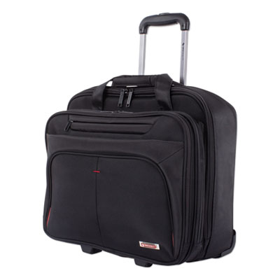 "Purpose Business Case On Wheels Holds Laptops 15.6"" 8.5"" x 8.5"" x 16"" Black BZCW1002SMBK"