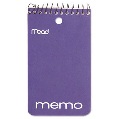 "Memo Book, College Ruled, 3"" x 5"", Wirebound, Punched, 60 Sheets"