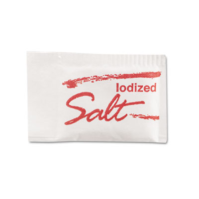 Salt Packets, .75 Grams, 1000 Packets/Box, 3 Boxes/Carton