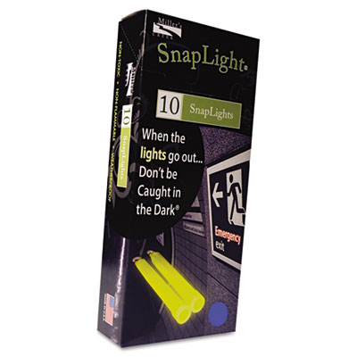 "Snaplights, 6""l x 3/4""w, Blue, 10/Pack"