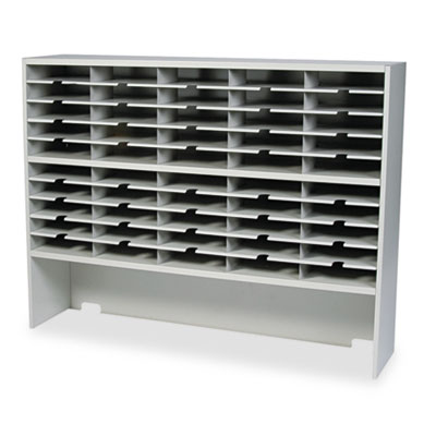 Kwik-File Mailflow-To-Go 2 Tier Sorter with Riser, 50 Pockets, 6
