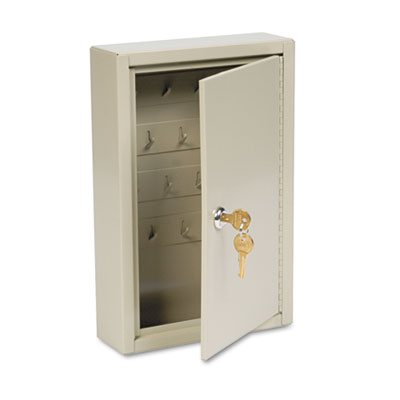 Dupli-Key Two-Tag Cabinet, 30-Key, Welded Steel, Sand, 8 x 2 1/2