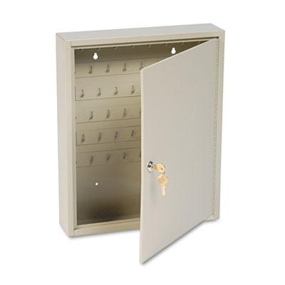 Dupli-Key Two-Tag Cabinet, 60-Key, Welded Steel, Sand, 14 x 3 1/