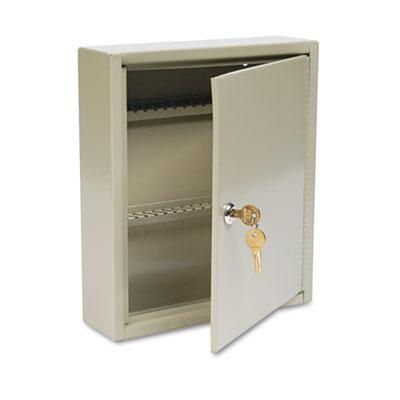 Uni-Tag Key Cabinet, 60-Key, Steel, Sand, 10 5/8 x 3 x 12 1/8