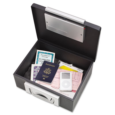 Electronic Cash Box, 12-7/8 x 11-1/8 x 6-1/4, Combination Lock,