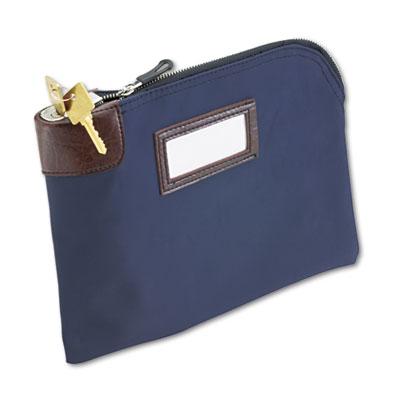 Seven Pin Security Night Deposit Bag Two Keys Nylon 11 X 8 1 2 Navy