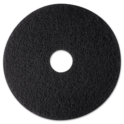 "High Productivity Floor Pad 7300, 12"", Black, 5/Carton"