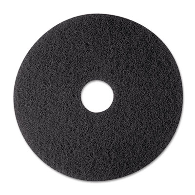 "Stripper Floor Pad 7200, 12"", Black, 5/Carton"