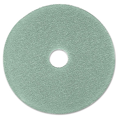 "Burnish Floor Pad 3100, 19"", Aqua, 5/Carton"