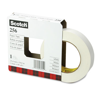 "256 Printable Flatback Paper Tape, 1"" x 60yds, 3"" Core"